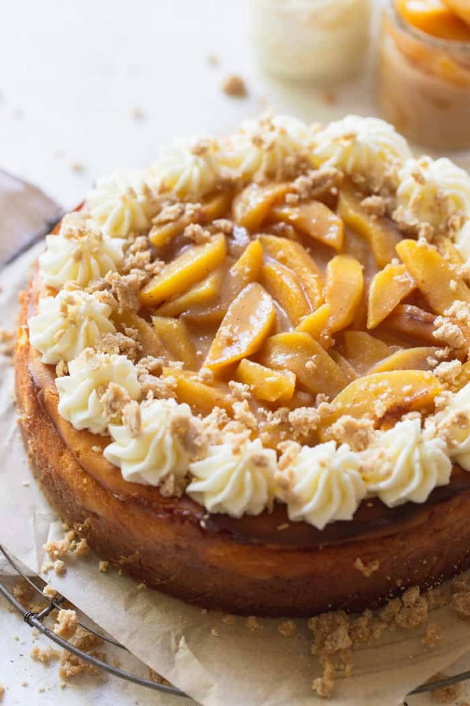 Peach Cobbler Cheesecake Is the Fusion Dessert of Your Dreams