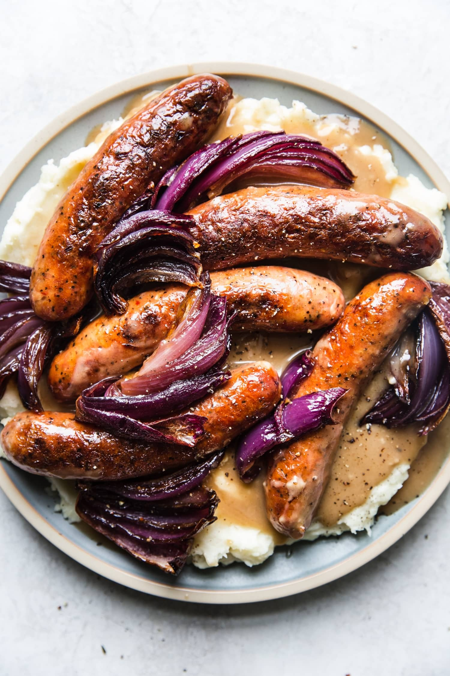 You Should Make Bangers and Mash with Caramelized Onions for St. Patrick's Day