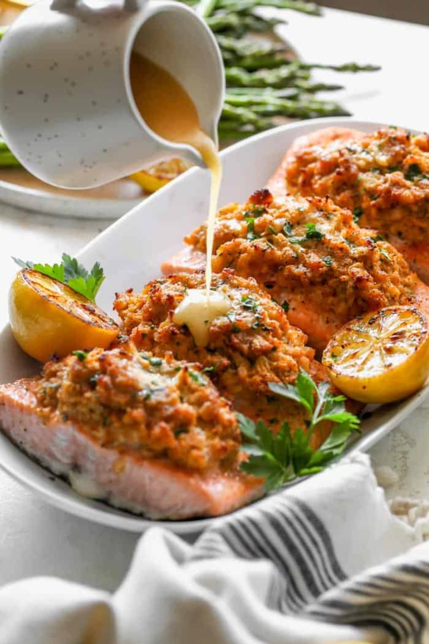 Crab-Stuffed Salmon Is a Surprisingly Fuss-Free Dinner