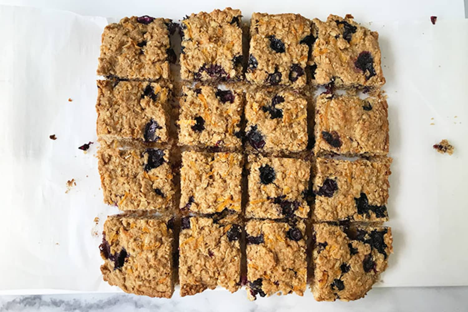 These Kid-Friendly Oatmeal Bars Are Packed with Blueberries and Carrots