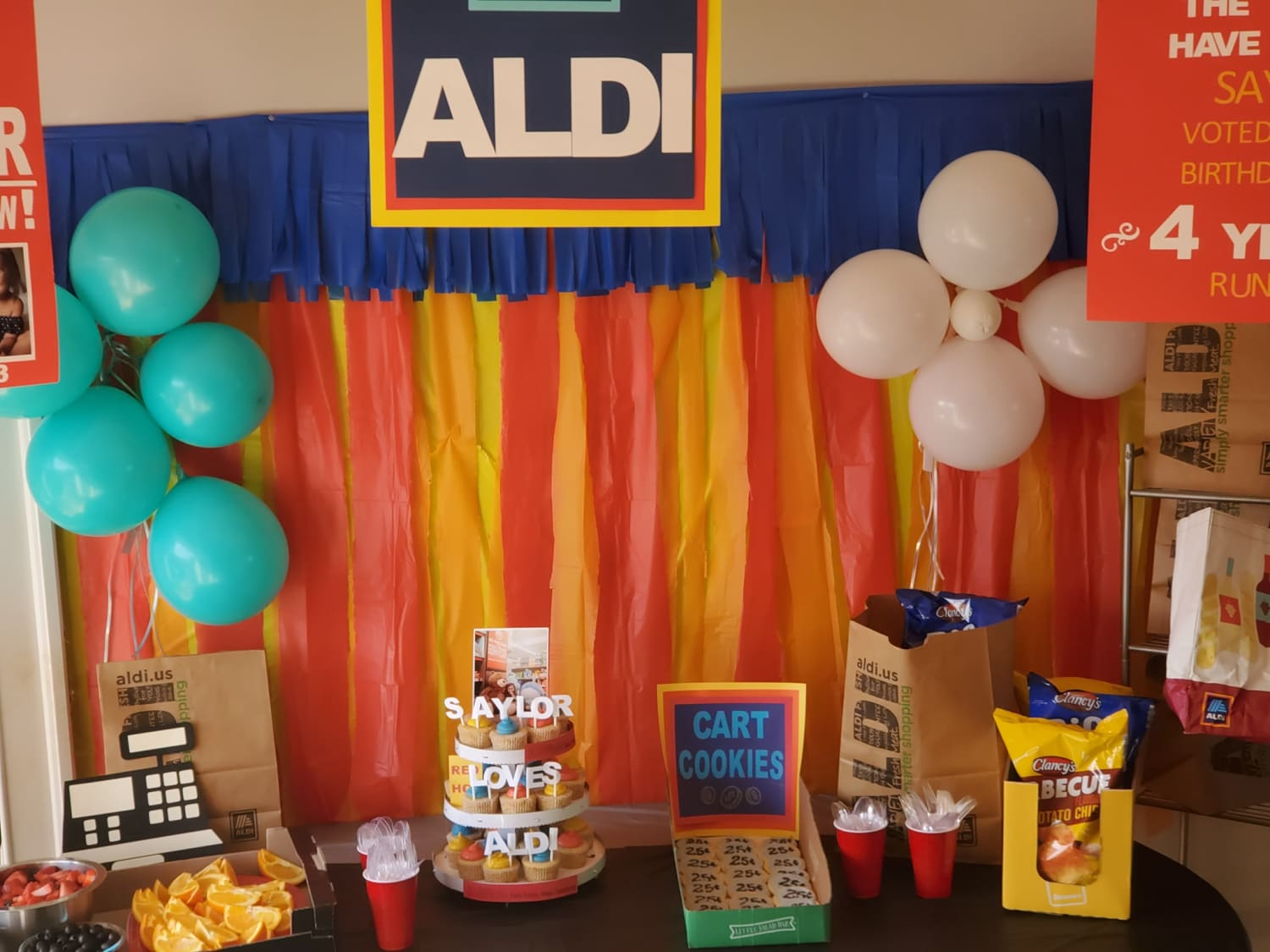 Brilliant Mom Spends $150 on Aldi-Themed Birthday Party for Her 4-Year-Old Daughter