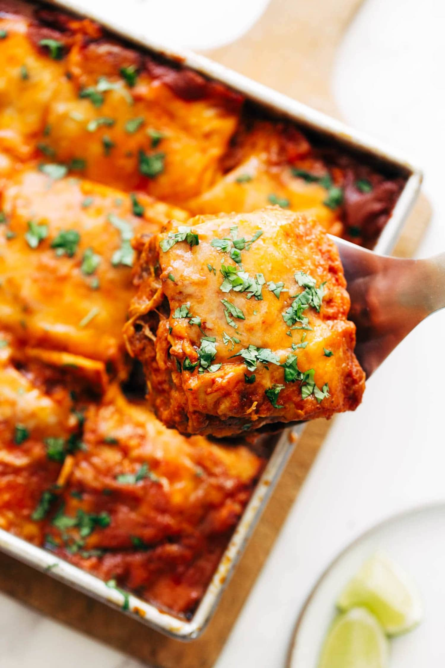 5-Ingredient Chicken Enchilada Casserole Tastes Like It Took All Day to Make