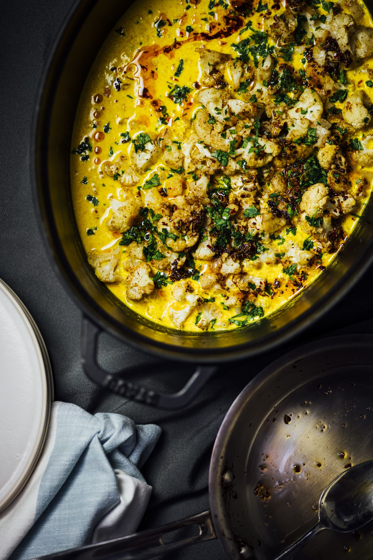 Nik Sharma's Roasted Cauliflower in Turmeric Kefir