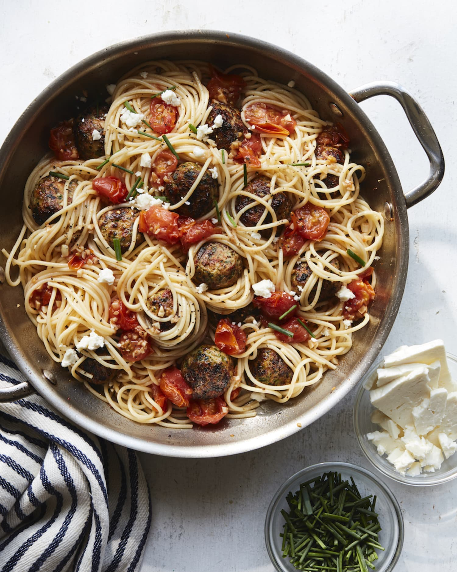 You Need to Try This Fresh, Mediterranean Take on Spaghetti and Meatballs