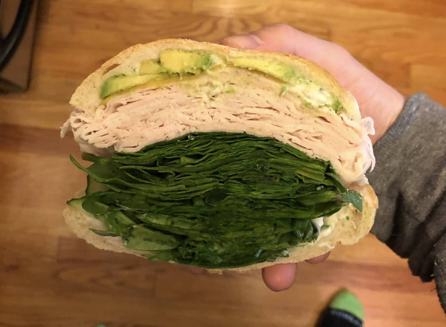 Twitter Reacts to This Outrageous Sandwich That Is Mostly Just Spinach