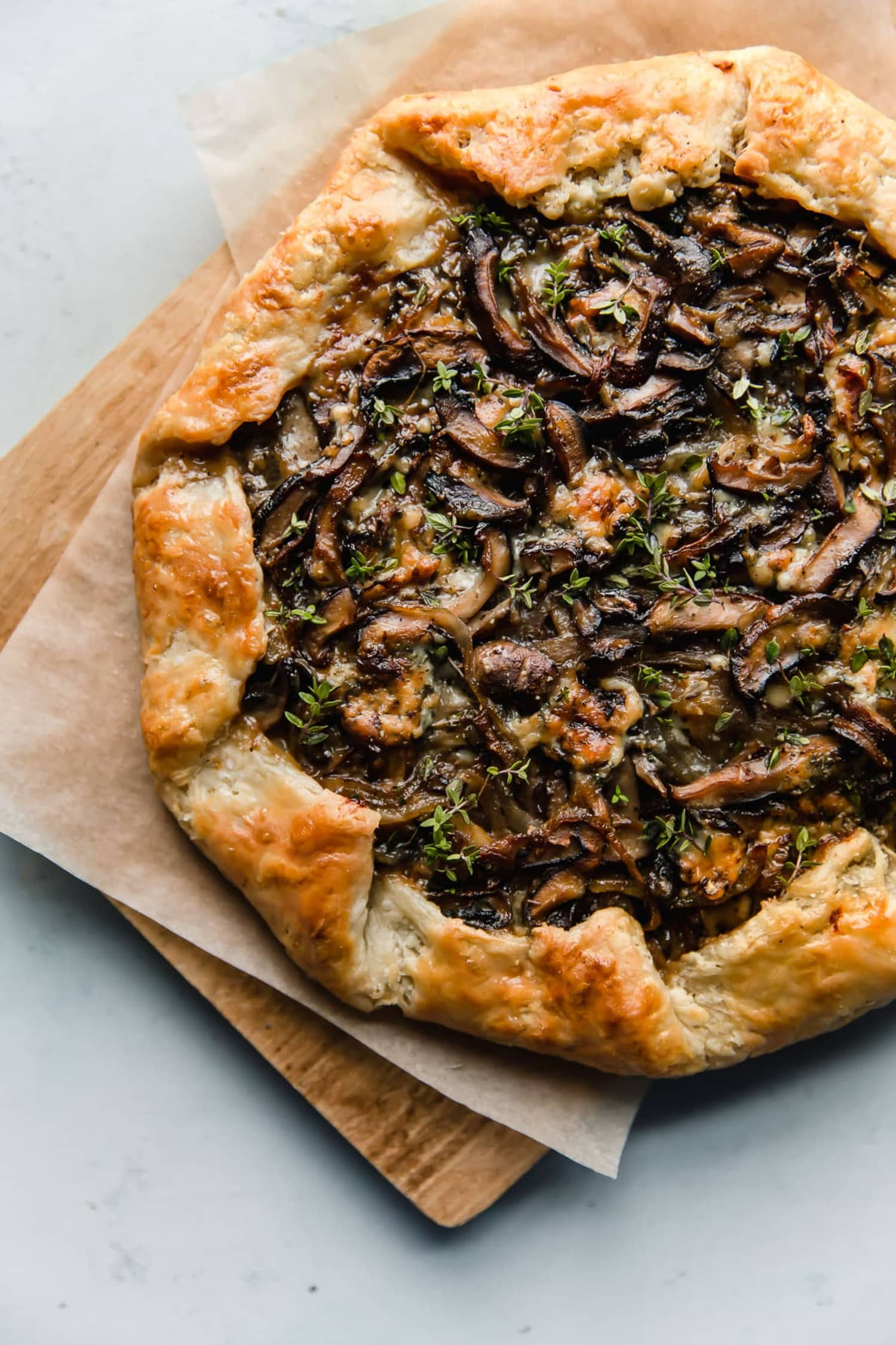 This Easy French Galette Is Packed with Mushrooms