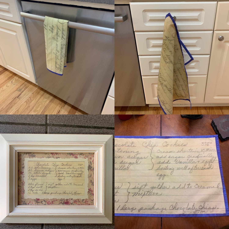 Brilliant Woman Turns Her Grandma's Old Recipes Into a Tea Towel
