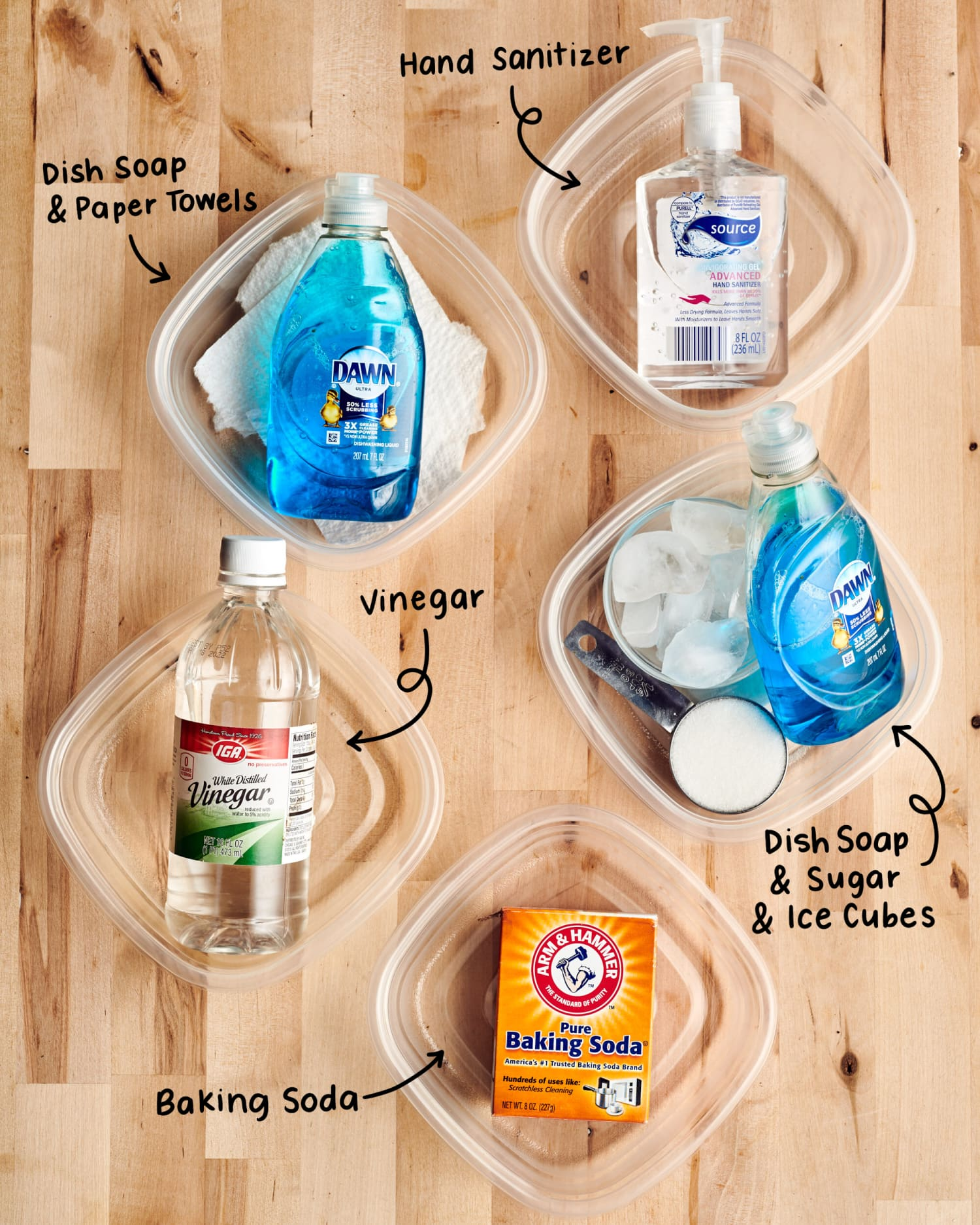 We Tried 5 Methods for Cleaning Stained Plastic Containers
