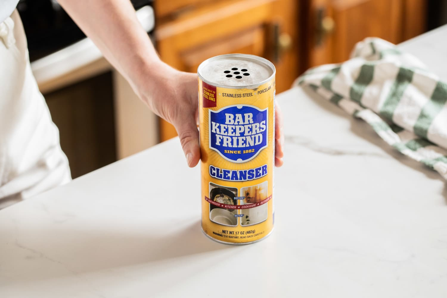 The First Thing You Should Do with a New Bottle of Bar Keepers Friend