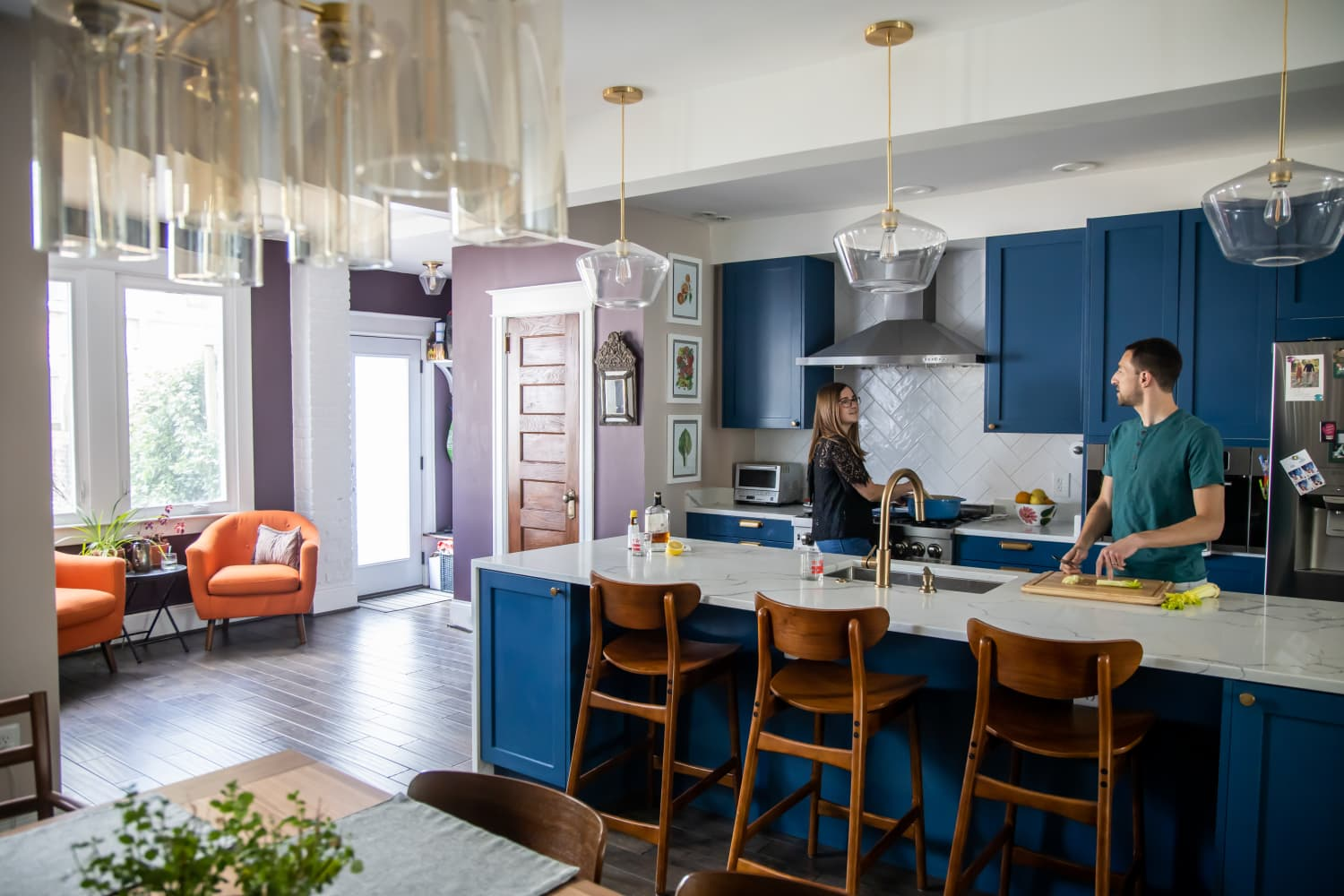 This Couple Knocked Down a Load-Bearing Wall to Open Up Their Galley Kitchen — And They Have No Regrets