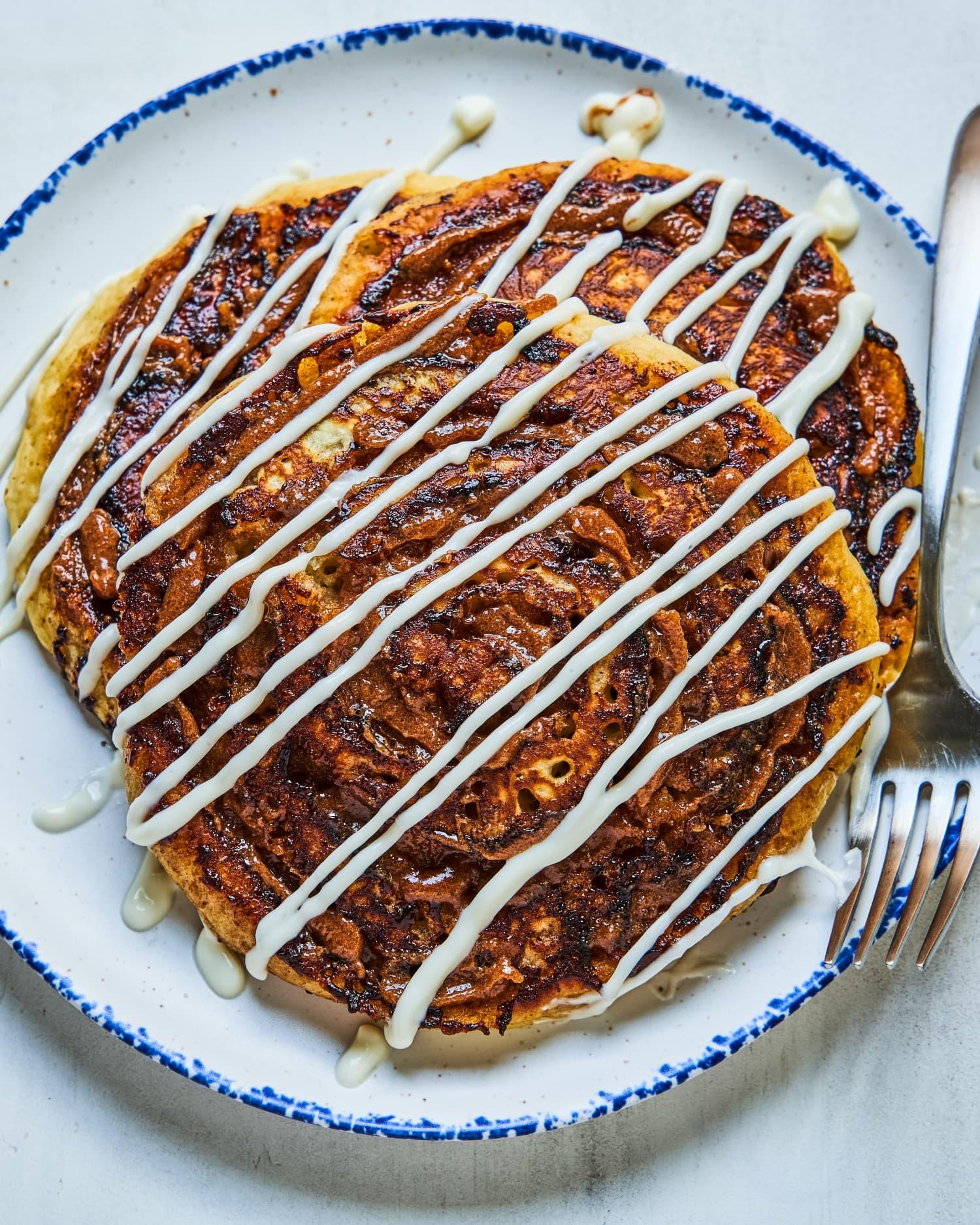Cinnamon Roll Pancakes Are Our Breakfast Dreams Come True