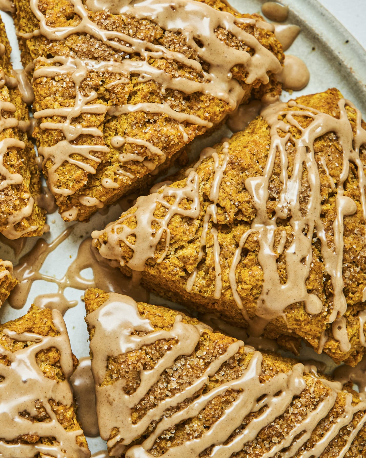 Fluffy Pumpkin Scones with Maple Glaze Are the Perfect Fall Breakfast