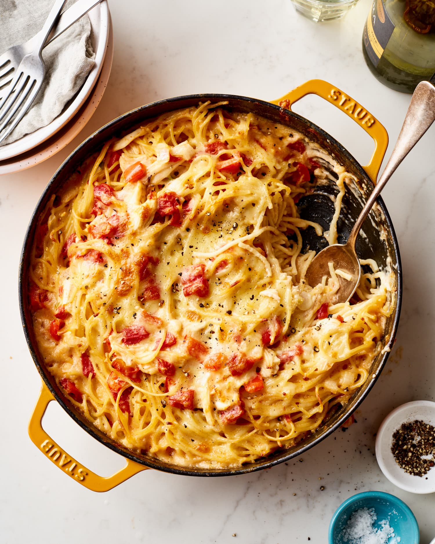 Creamy, Cheesy Chicken Spaghetti Is the Comforting Weeknight Meal You Crave