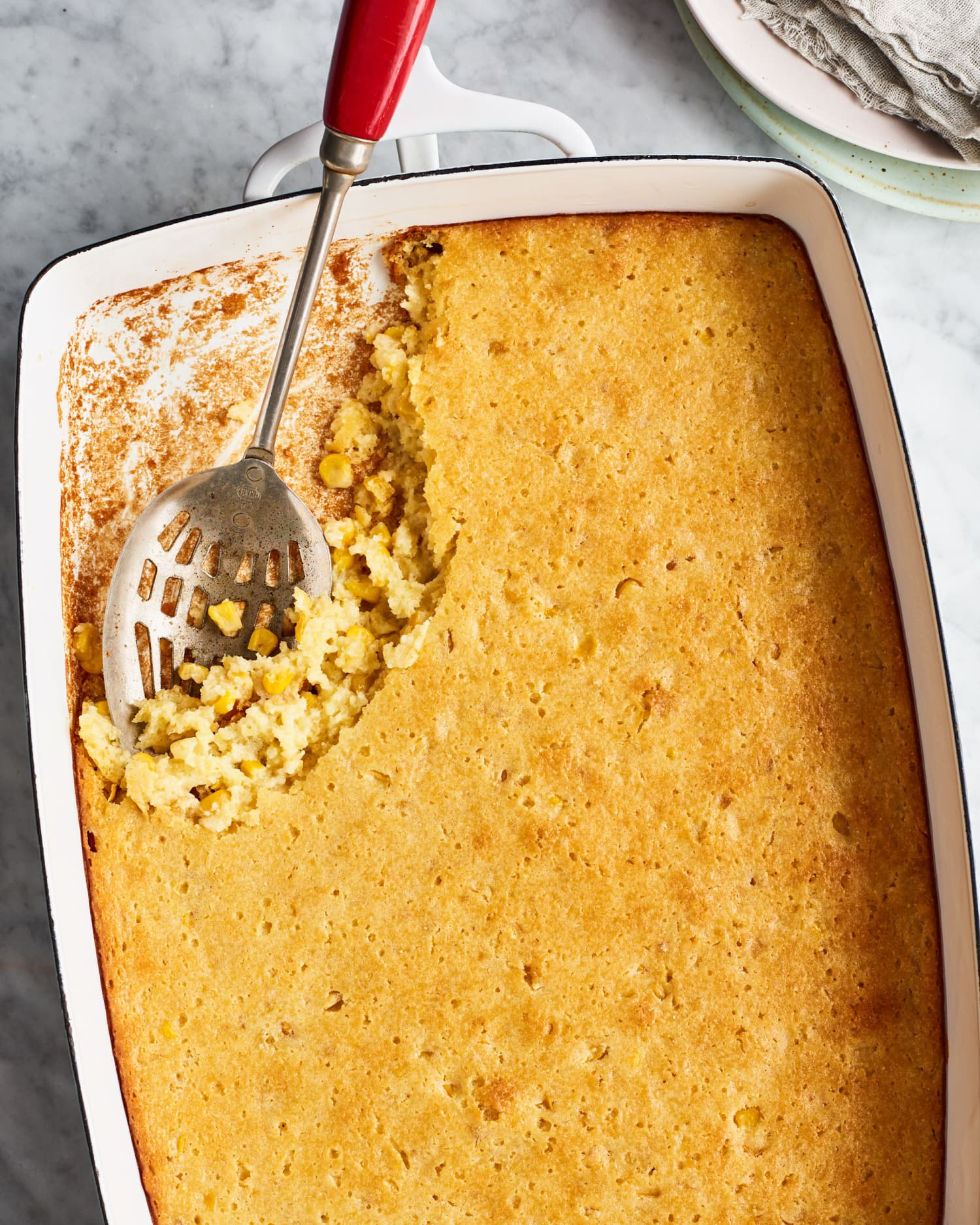 This Casserole Is Somewhere Between Cornbread and Corn Pudding, and We're Here for It