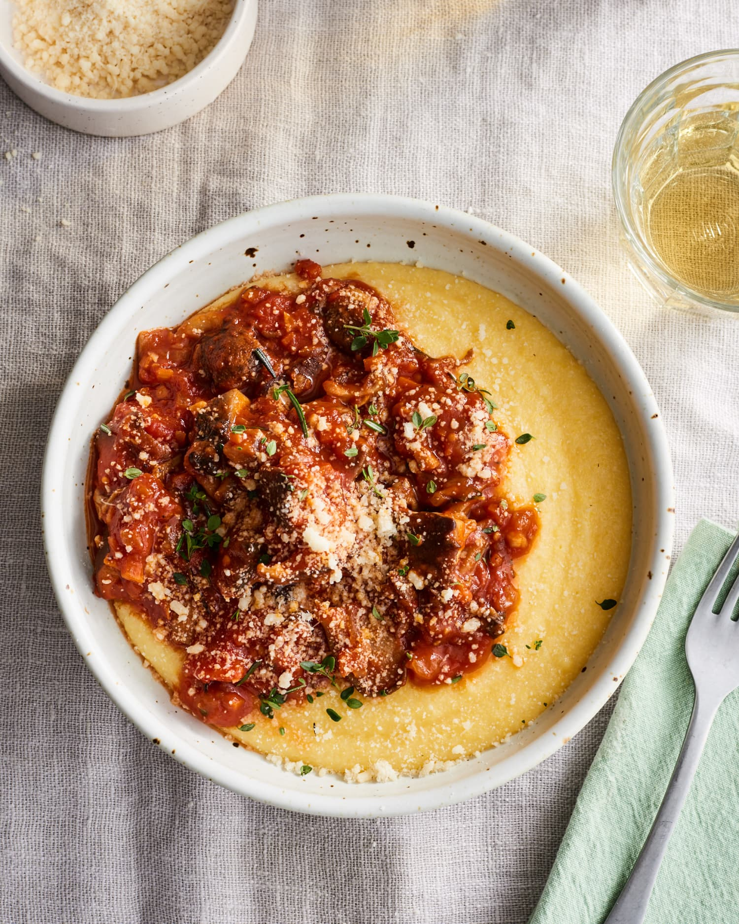 Creamy Polenta with Mushroom Ragu Is the Coziest Dinner You Can Make This Month