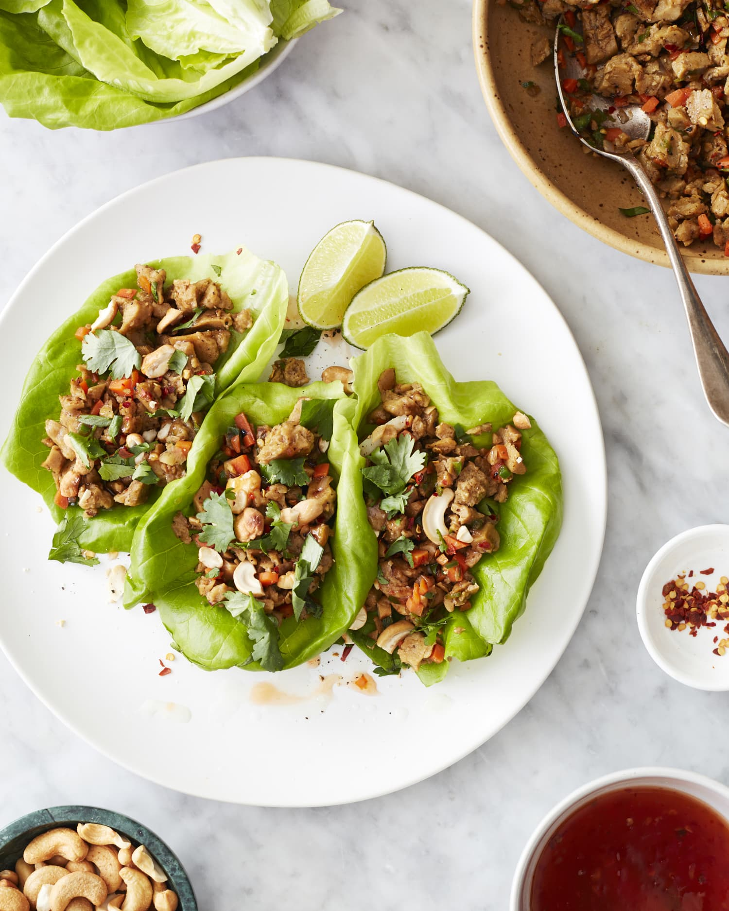 Spicy, Crunchy, Protein-Packed Lettuce Wraps Are Ready in 30 Minutes