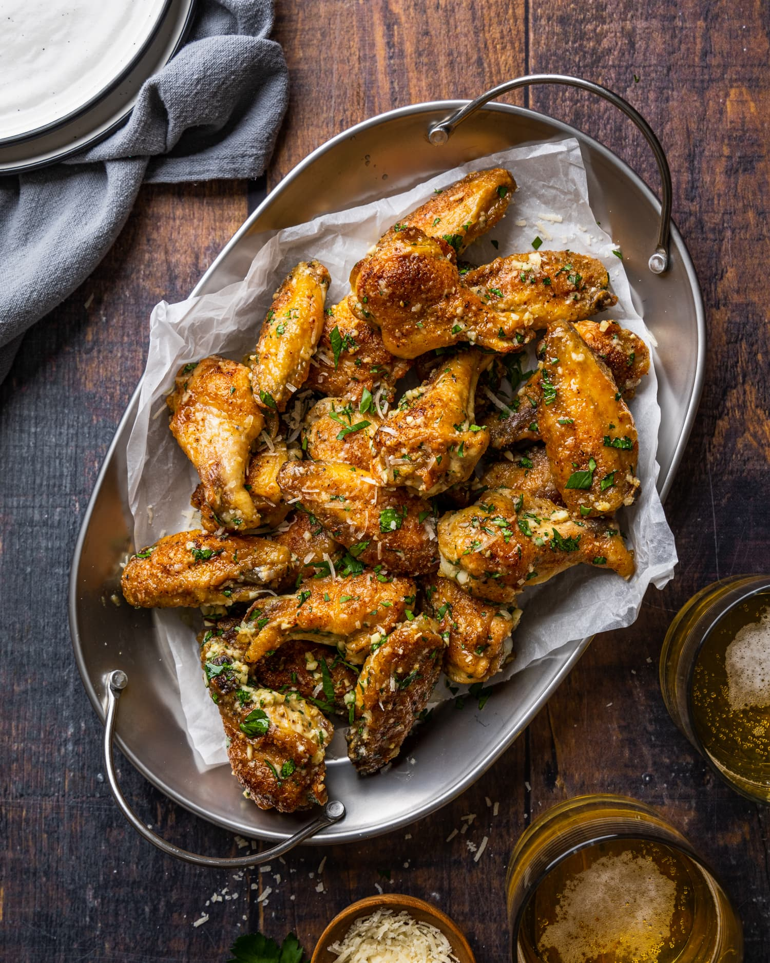 Baked Garlic-Parmesan Wings Are So Crisp, You'd Think They Were Fried