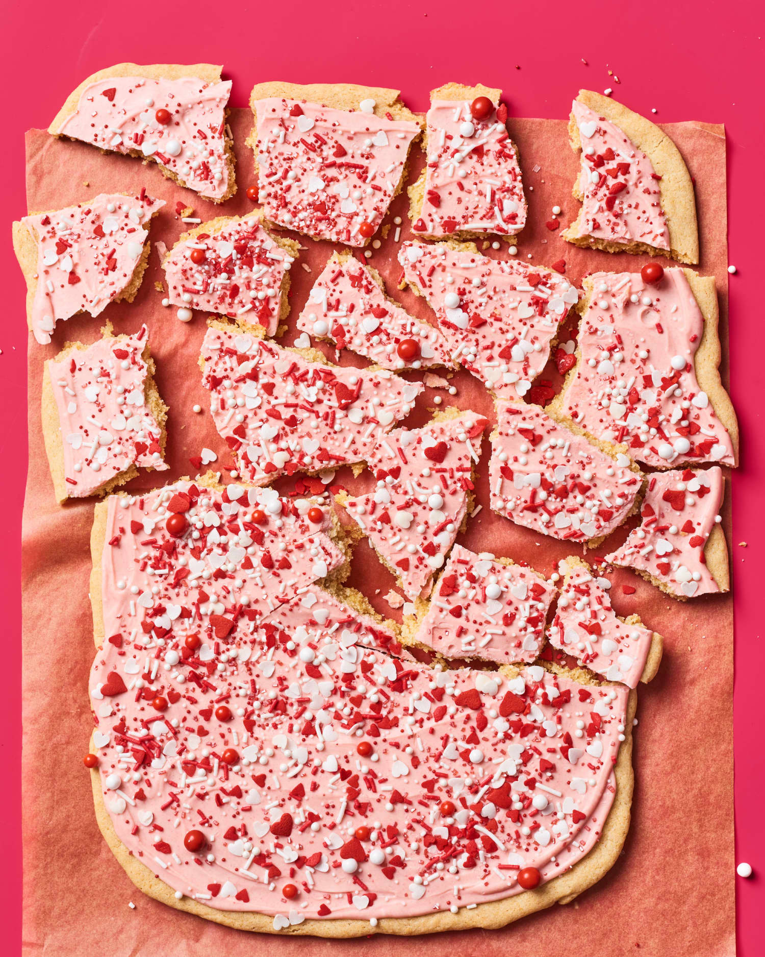 Sugar Cookie Bark Is Just One Giant Cookie, So Happy Valentine's Day to You