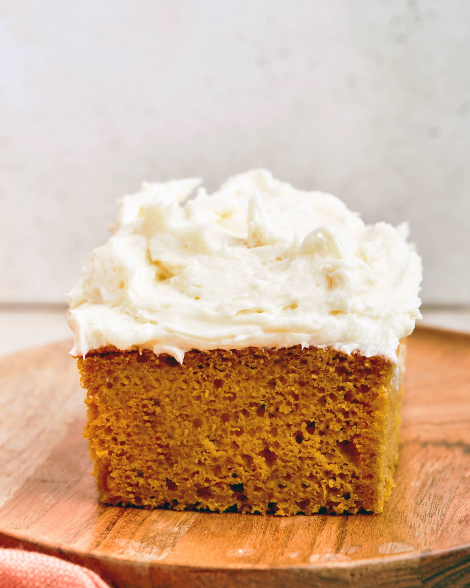 Get Your Fall Baking Started Early with Pumpkin Cake with Cream Cheese Frosting