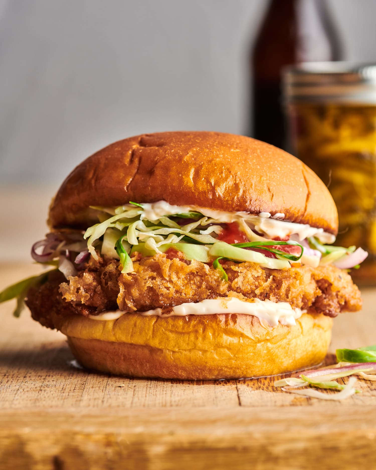 This Spicy Chicken-Fried Cauliflower Sandwich Is Crisp, Glorious Perfection