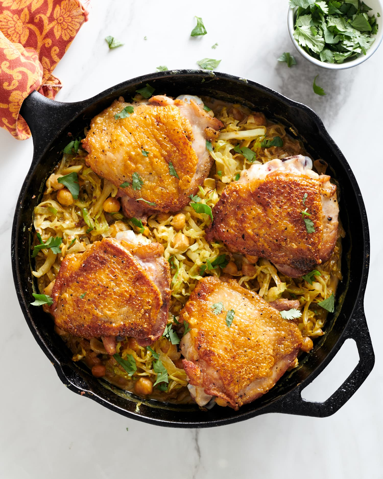 These Crispy, One-Skillet Chicken Thighs Will Be an Instant Dinner Win