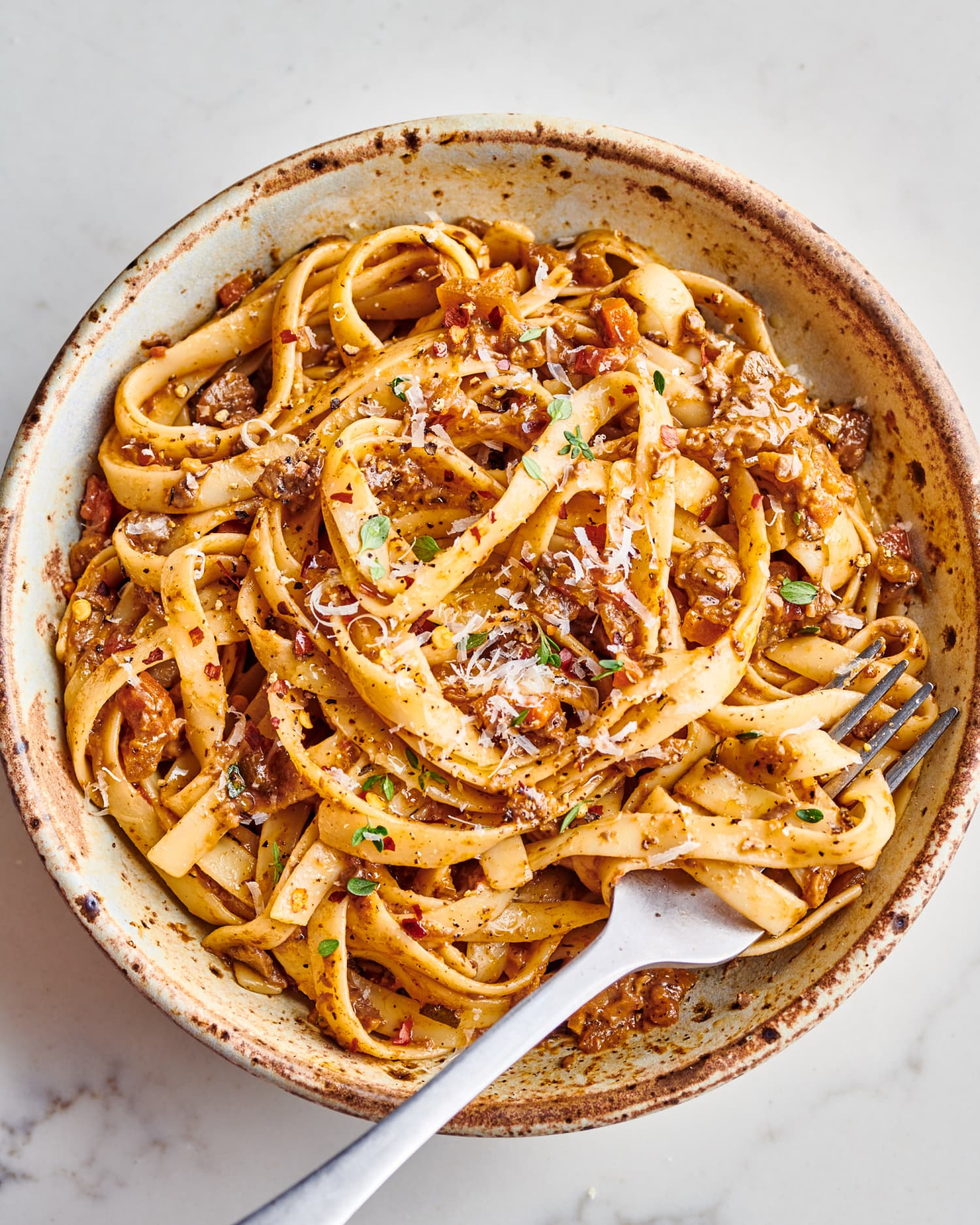 This Savory One-Pot Mushroom Bolognese Is Deeply Satisfying