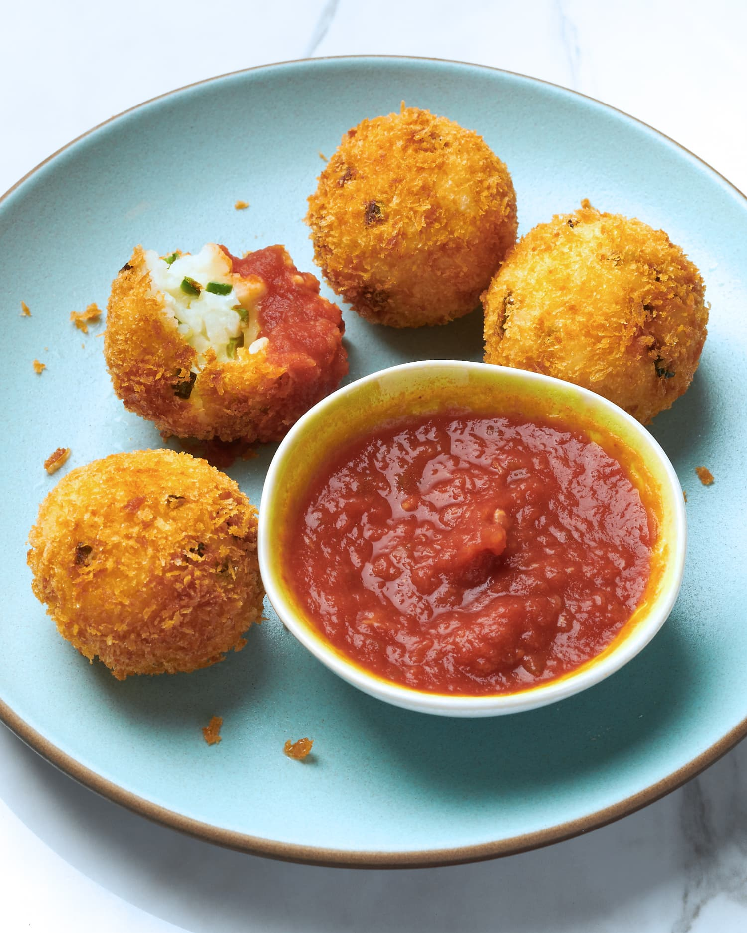 Cheesy Jalapeño Popper Rice Balls Are the Tastiest Way to Use Up Leftover Rice