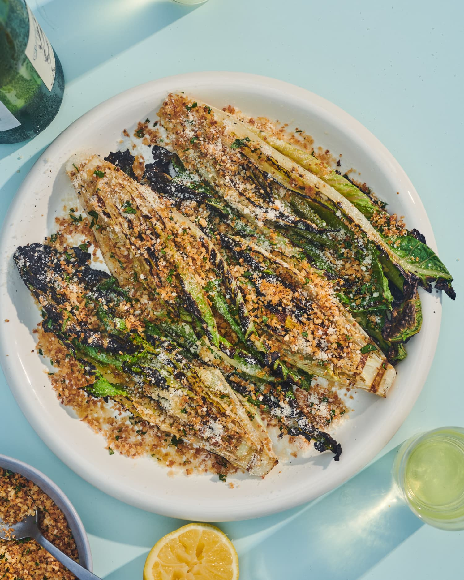Grilled Romaine with Garlic Butter Breadcrumbs Is the Most Satisfying Summer Salad I Know