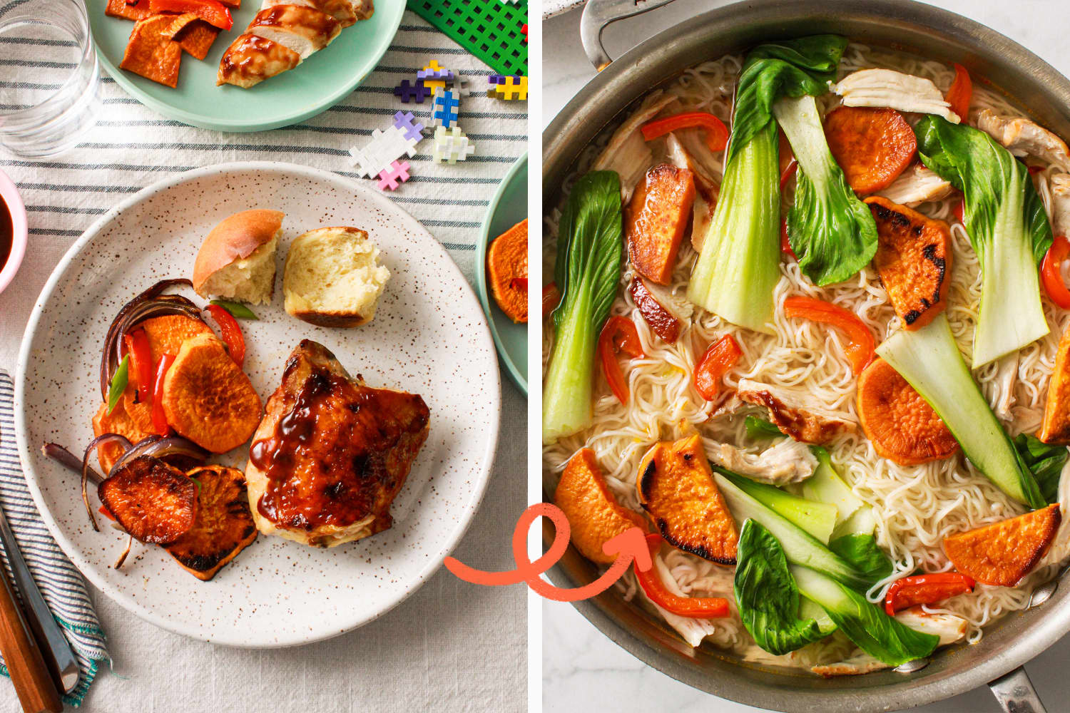 Cook Once, Eat Twice: Transform Saucy Sheet Pan Chicken Into 20-Minute Noodle Bowls