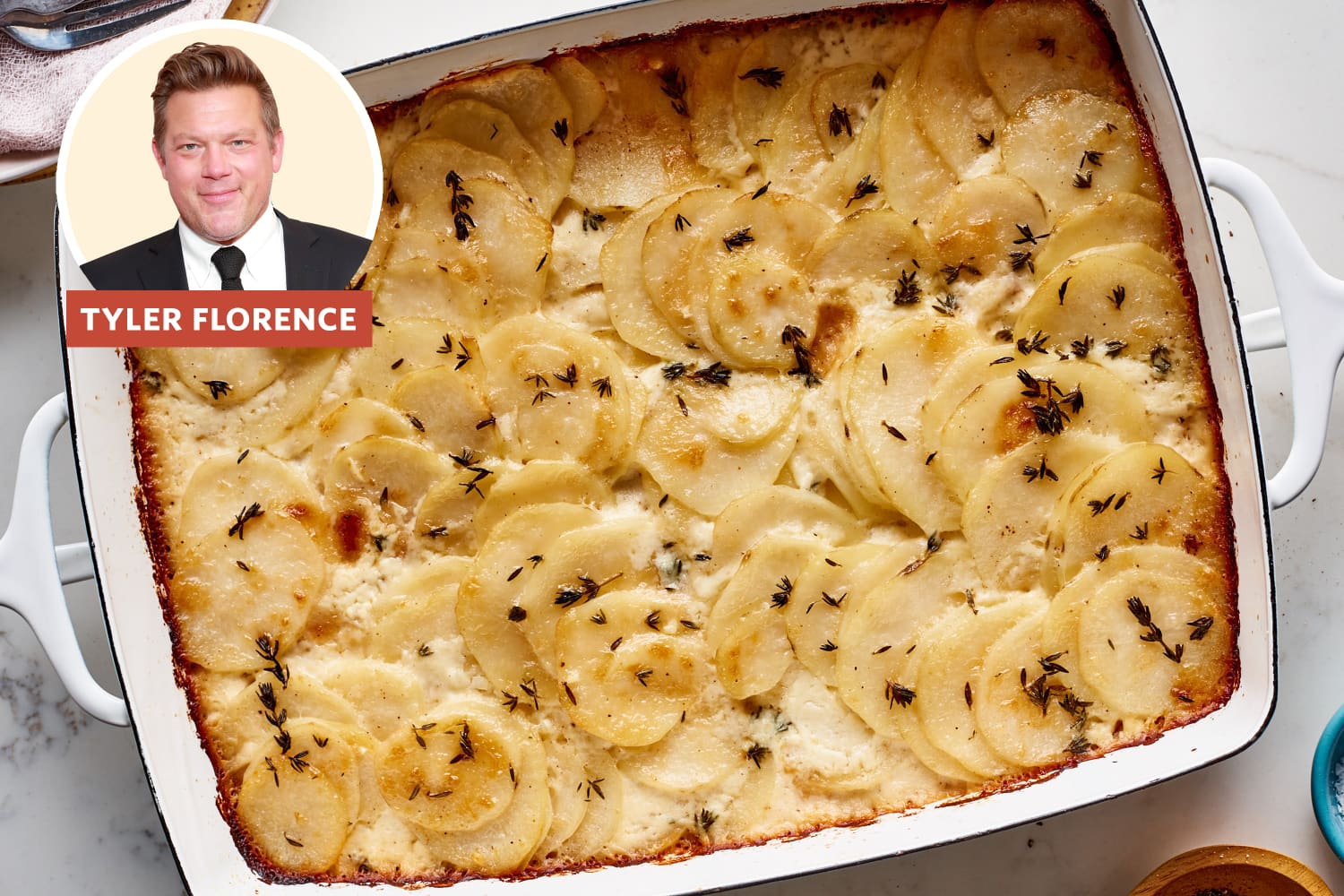 Tyler Florence Has a Clever Trick for Making the Best Scalloped Potatoes Ever