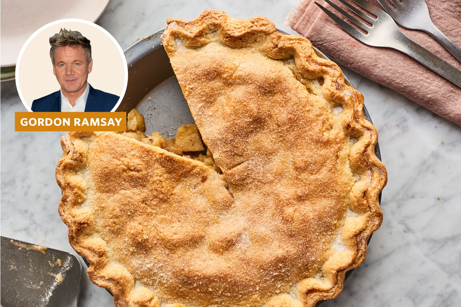 Gordon Ramsay's Apple Pie Recipe Is Like Nothing You've Seen Before