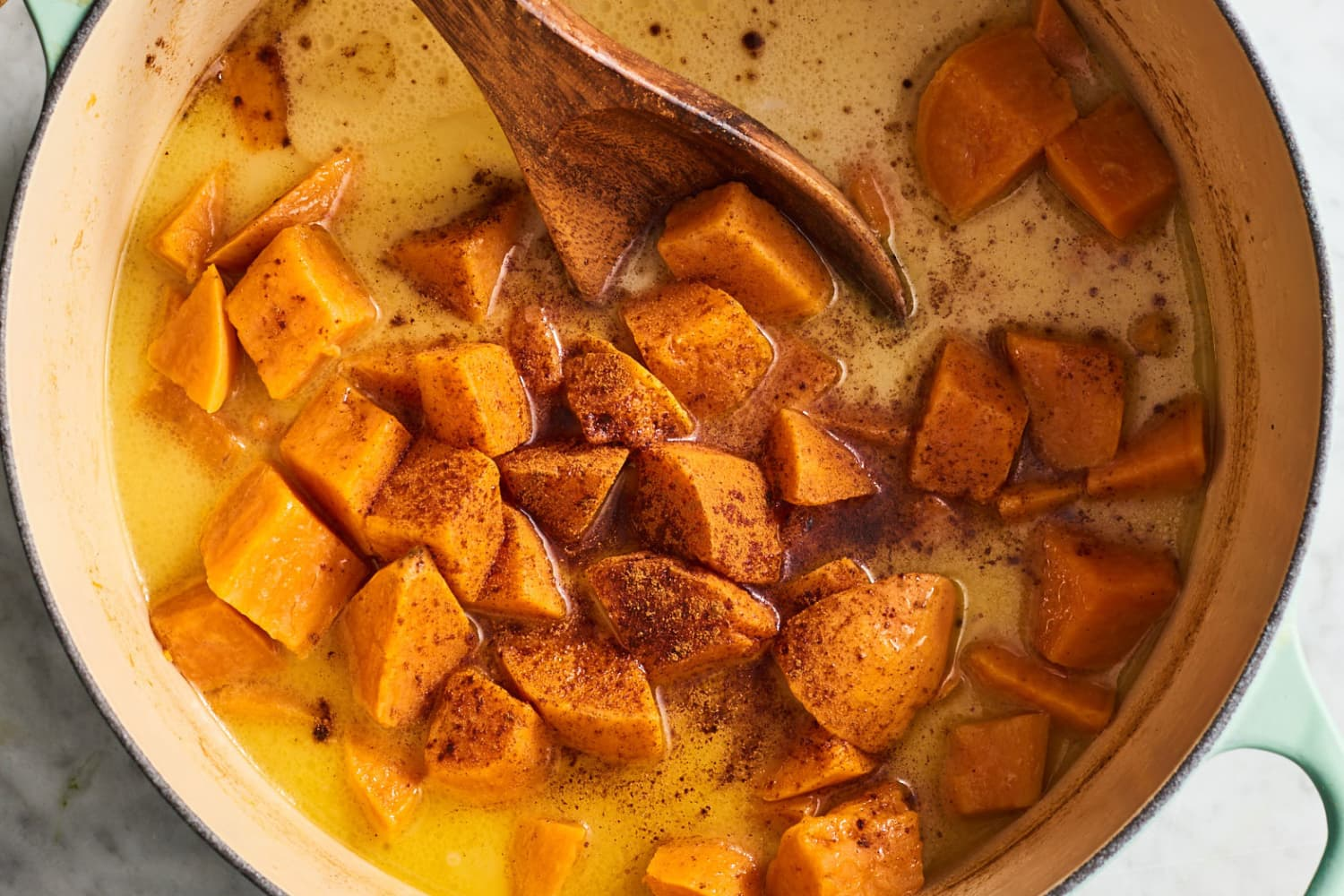 Cinnamon Butter Bath Sweet Potatoes Are the Perfect Side for Every Fall Meal