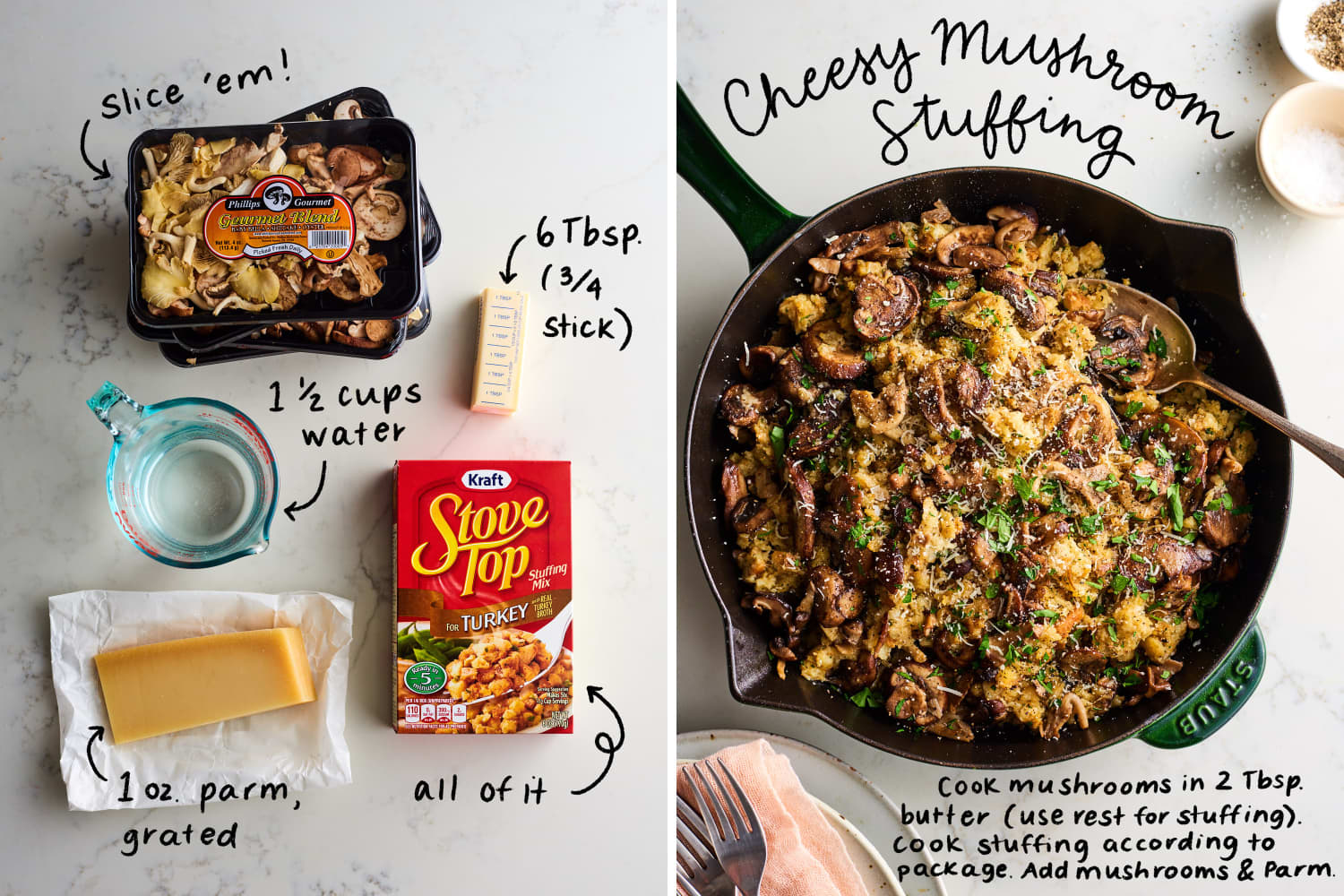 The Easiest 2-Ingredient Boxed Stuffing Upgrades for Thanksgiving