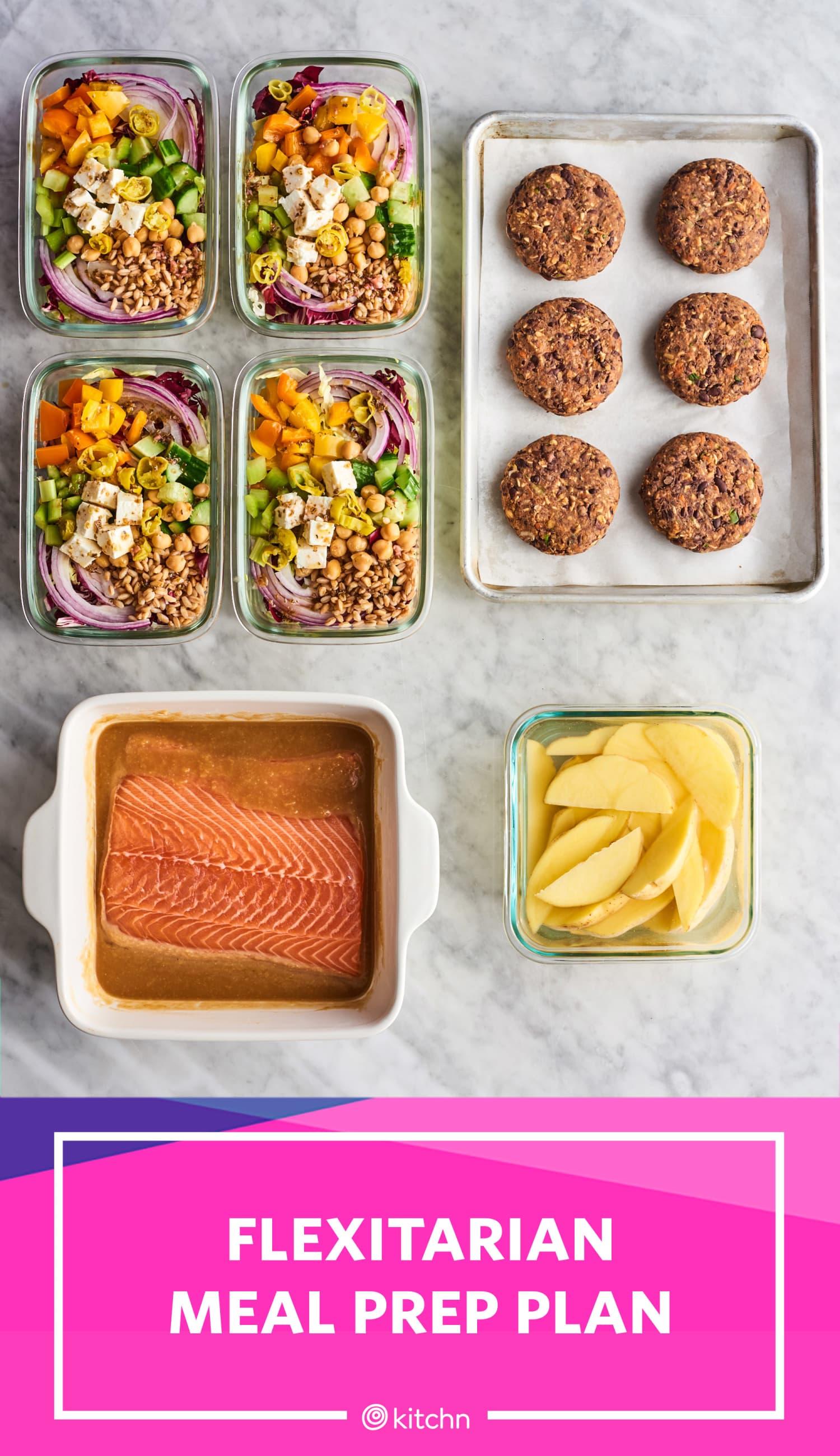 Meal Prep Plan: How I Prep a Week of Easy Flexitarian Meals