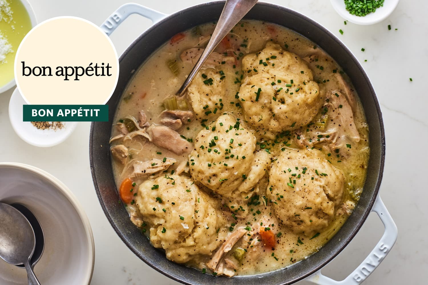 Bon Appétit's Chicken and Dumplings Take Forever to Make but Are Worth the Effort