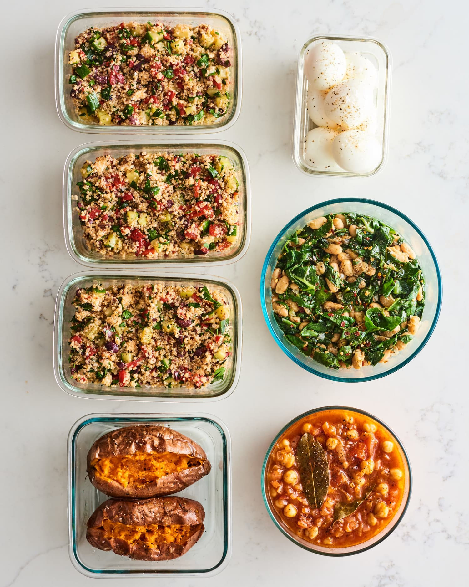 Meal Prep Plan: How I Prep a Week of Vegetarian Mediterranean Diet Meals In Just 2 Hours