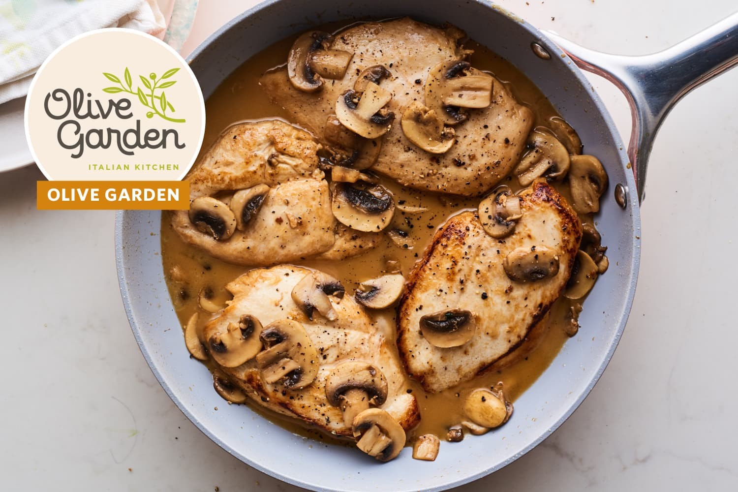 We Tried Olive Garden's Popular Chicken Marsala Recipe and Did Not Expect These Results