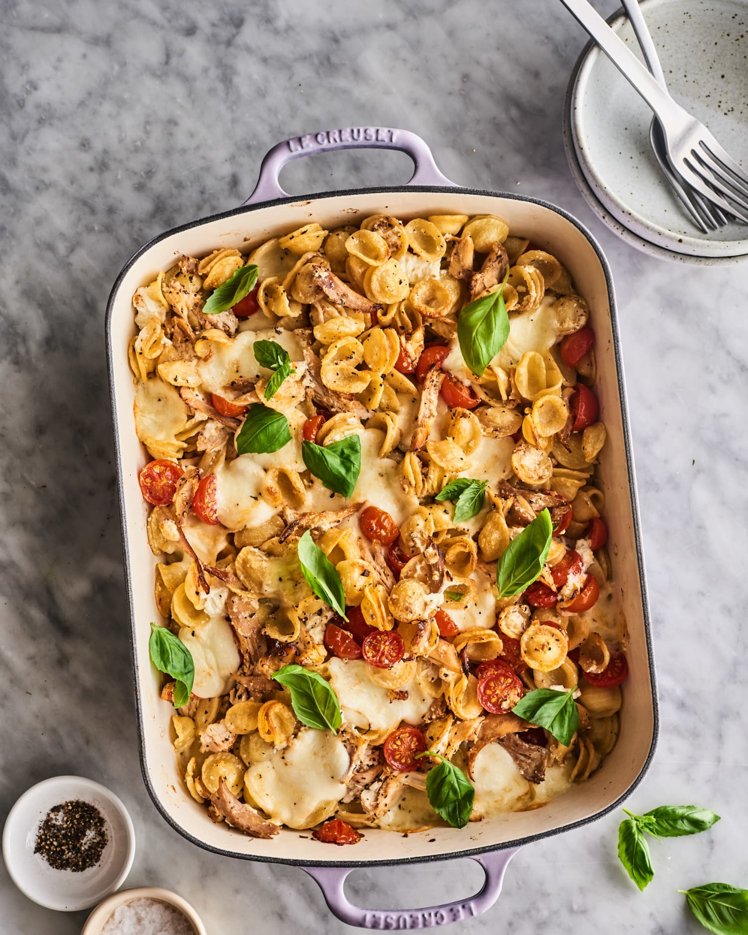 Make This Cheesy Caprese Chicken Casserole for Dinner This Weekend