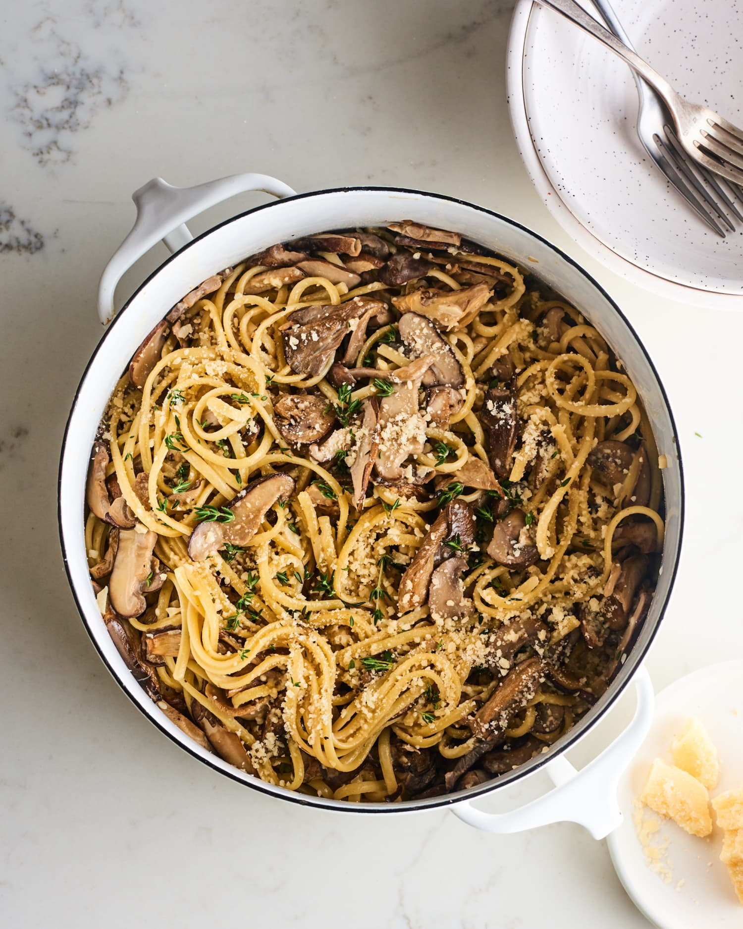 Creamy Mushroom One-Pot Pasta Is Fast, Easy, and Seriously Satisfying
