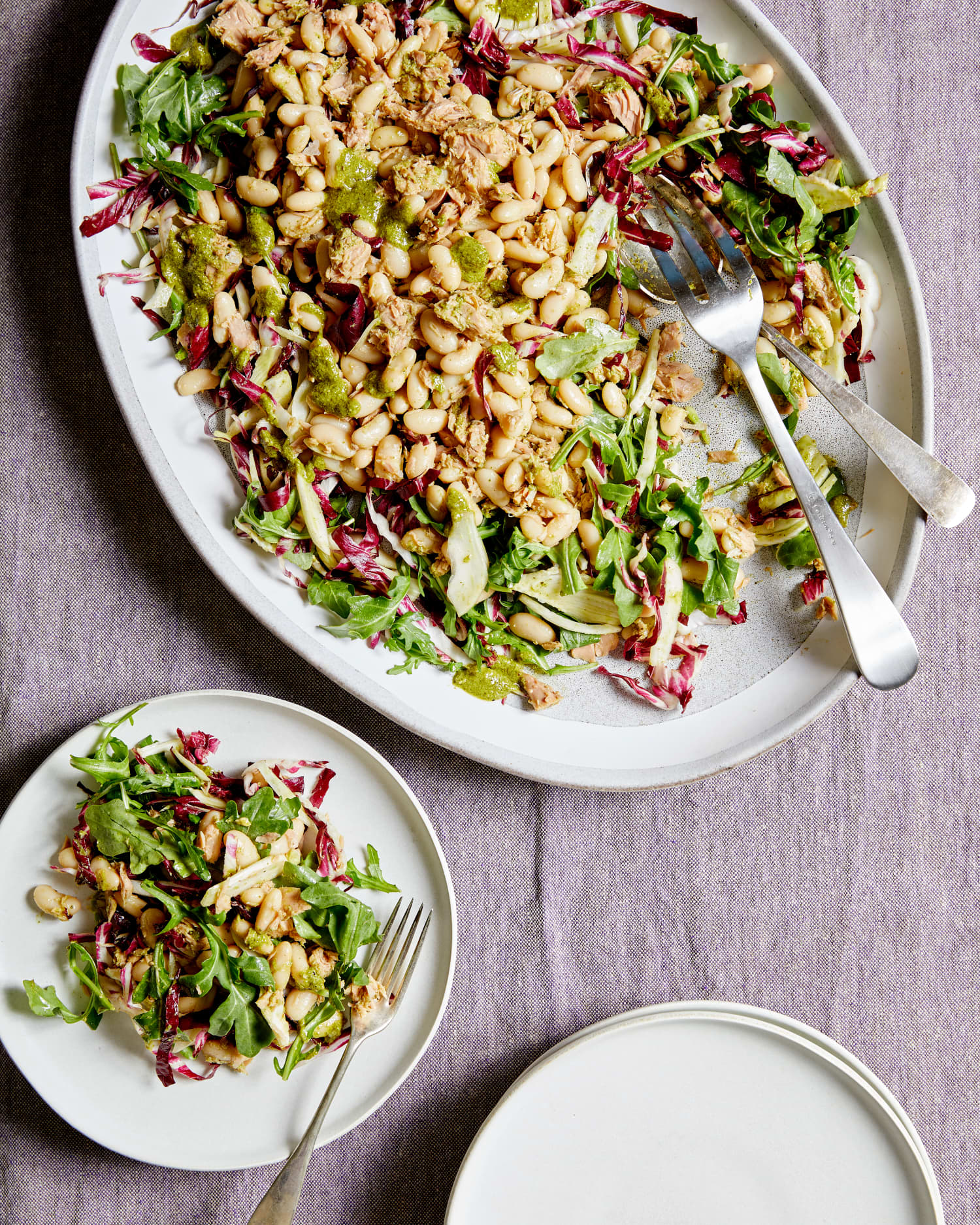 Pesto Tuna and White Bean Salad Is the No-Cook Summer Dinner You've Been Looking For
