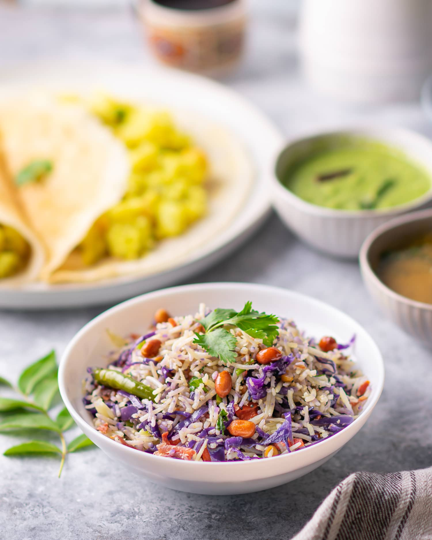 This Vibrant South Indian Rice Dish Is Packed with Cabbage, Peanuts, and Lime