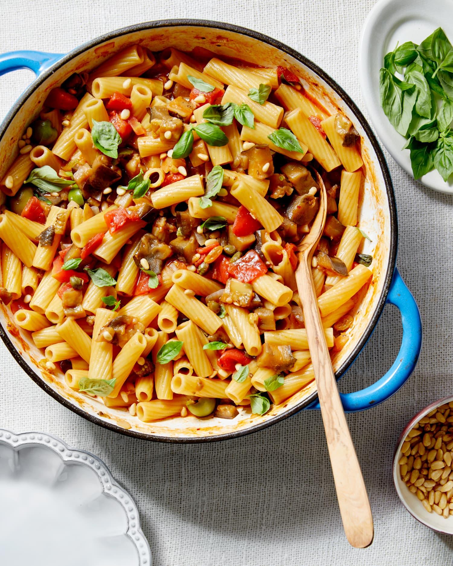 One-Pot Eggplant Caponata Pasta Will Transport You to Sicily