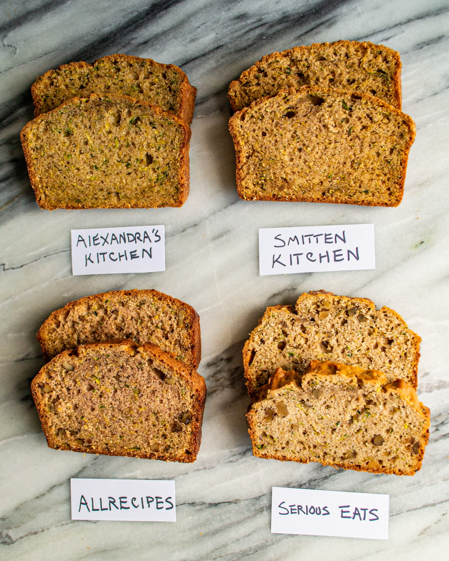 We Tested 4 Famous Zucchini Bread Recipes and Found a Clear Winner