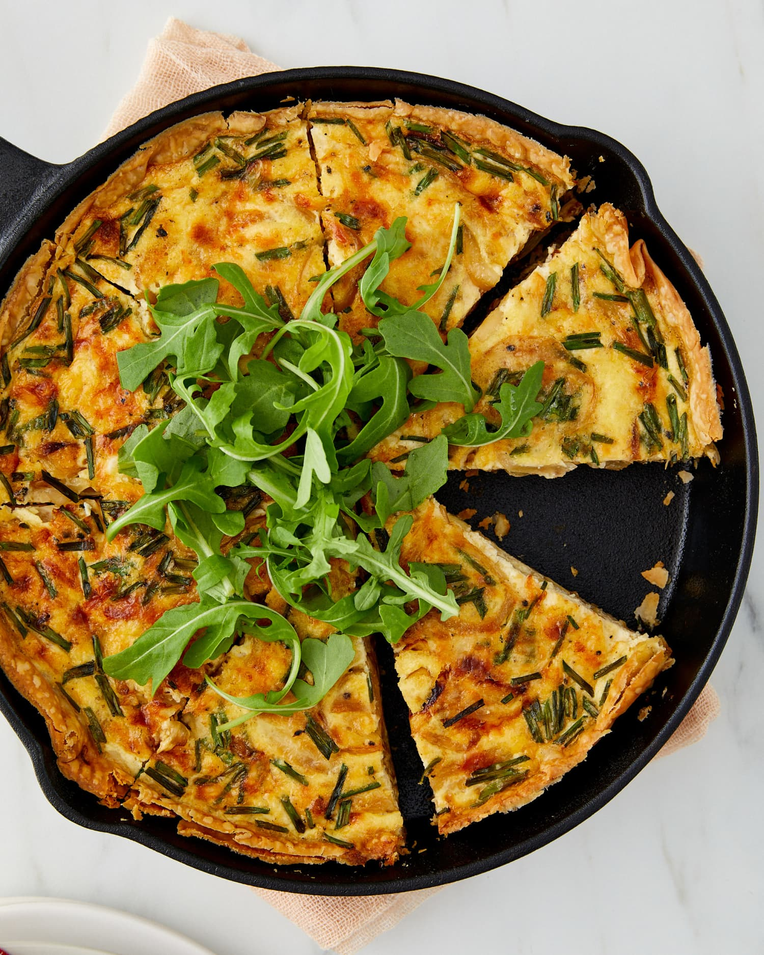 Caramelized Onion Skillet Quiche Is the Best Way to Win Brunch