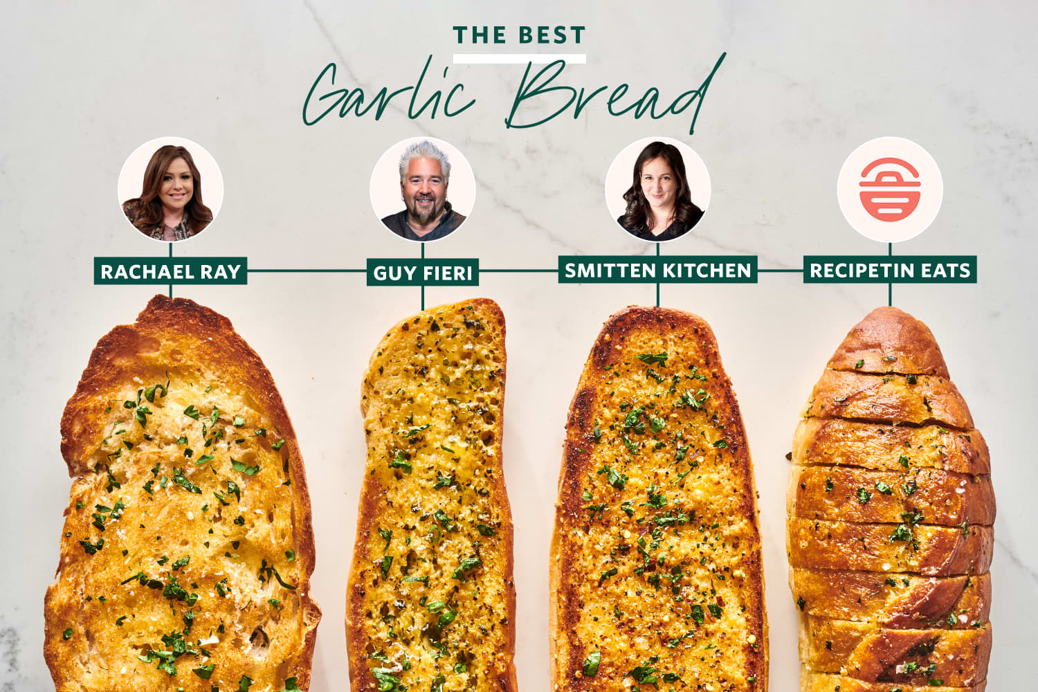 We Tested 4 Famous Garlic Bread Recipes and the Winner Has Never Been So Clear