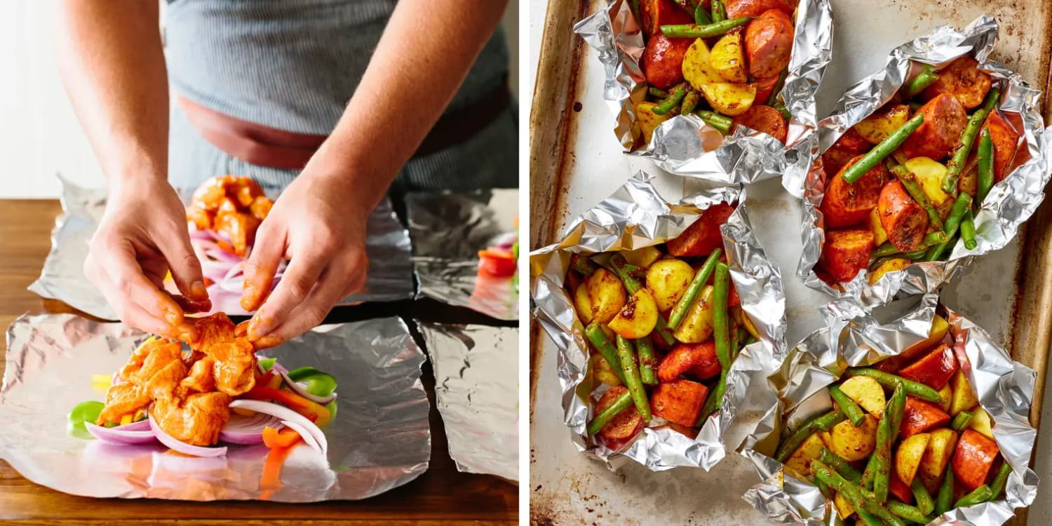 These Mess-Free Foil Packet Meals Are the Easiest Way to Serve Dinner This Summer