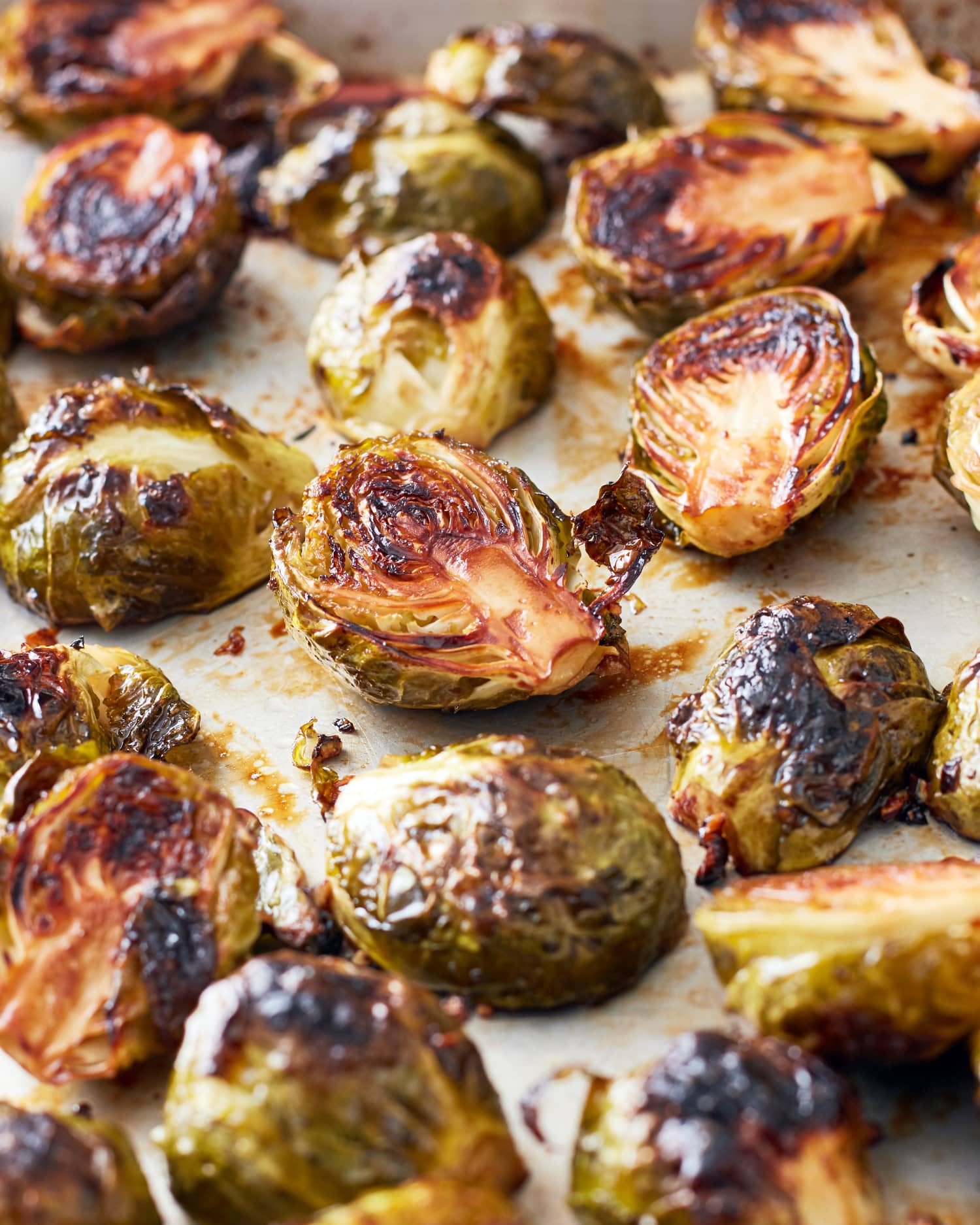 A Simple and Surprising Addition to Roasted Brussels Sprouts? Grapes.