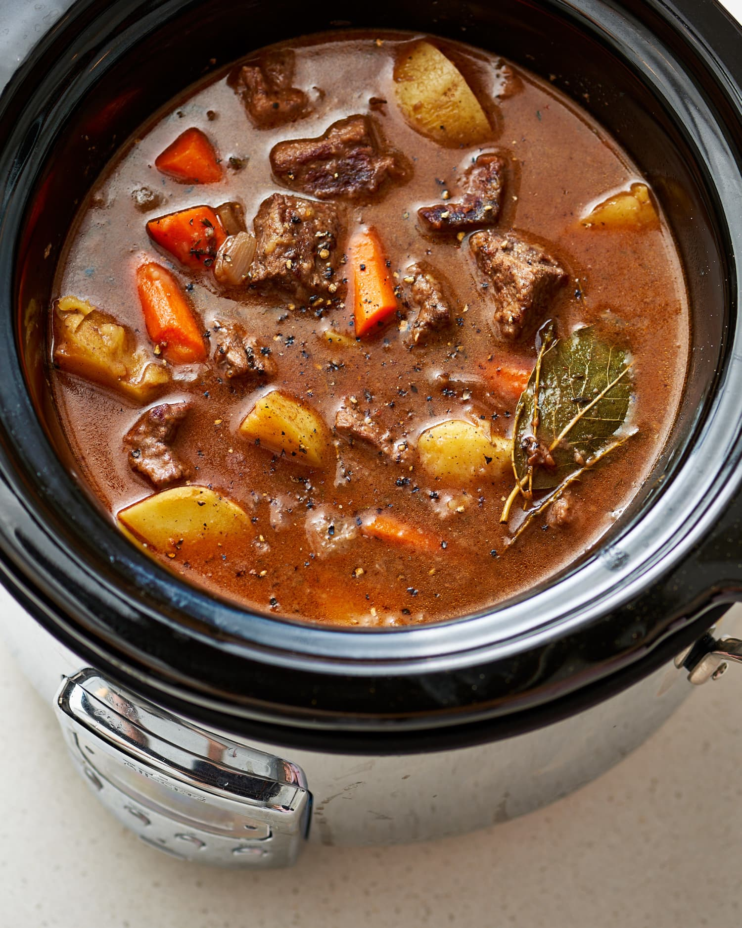 The Slow Cooker Stew Mistake You're Probably Making — And How to Fix It