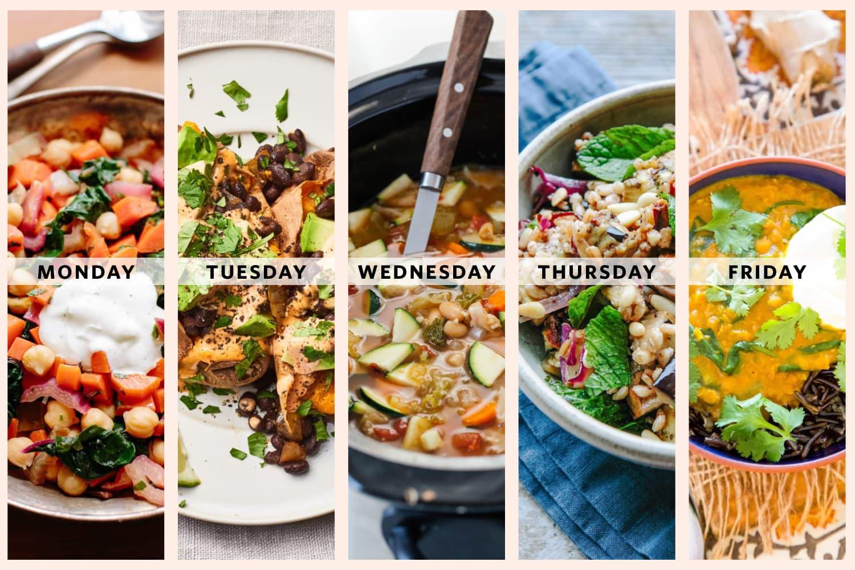 Next Week's Meal Plan: A Week of Vegetarian Mediterranean Diet Dinners