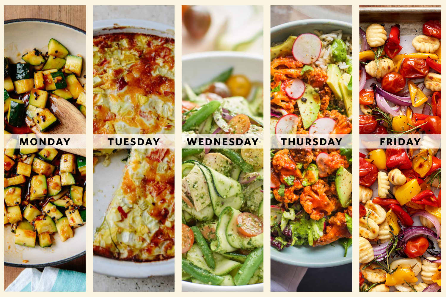 Next Week's Meal Plan: 5 Flexible Vegetable-Driven Dinners for Two